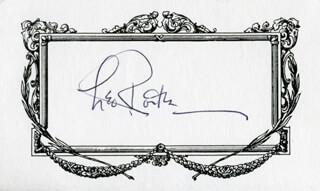 LEO CALVIN ROSTEN - PRINTED CARD SIGNED IN INK