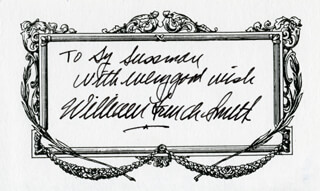 Autographs: WILLIAM FRENCH SMITH - INSCRIBED SIGNATURE