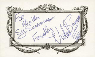 VIDAL SASSOON - AUTOGRAPH NOTE SIGNED
