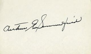 Autographs: ARTHUR E. SUMMERFIELD - SIGNATURE(S)