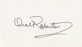 ORAL ROBERTS - AUTOGRAPH