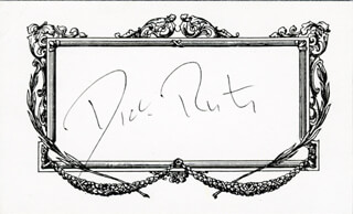 Autographs: DICK RUTAN - PRINTED CARD SIGNED IN INK