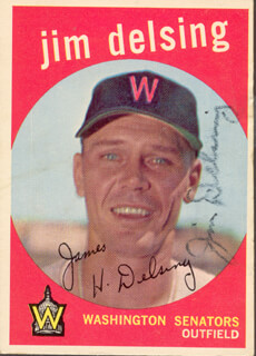 JIM DELSING - TRADING/SPORTS CARD SIGNED