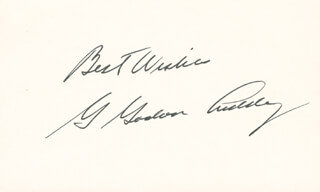 G. GORDON LIDDY - AUTOGRAPH SENTIMENT SIGNED
