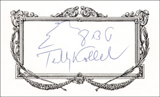 Autographs: TEDDY KOLLECK - SIGNATURE(S)