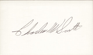 Autographs: COLONEL CHARLES W. SCOTT - SIGNATURE(S)