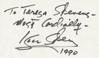 ISAAC STERN - AUTOGRAPH NOTE SIGNED 1990