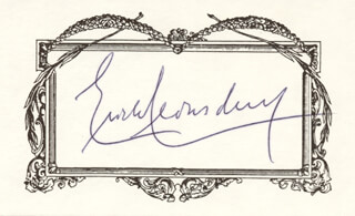 ERICH LEINSDORF - PRINTED CARD SIGNED IN INK