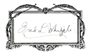 FRED LAWRENCE WHIPPLE - AUTOGRAPH