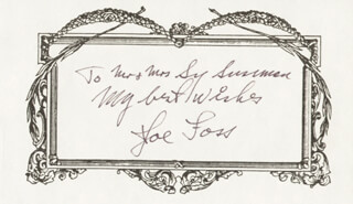 Autographs: BRIGADIER GENERAL JOSEPH J. JOE FOSS - AUTOGRAPH NOTE SIGNED