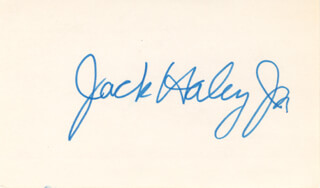 JACK HALEY JR. - AUTOGRAPH