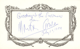MORTON GOULD - AUTOGRAPH NOTE SIGNED 07/20/1984
