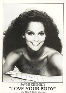 JAYNE KENNEDY - AUTOGRAPHED SIGNED PHOTOGRAPH