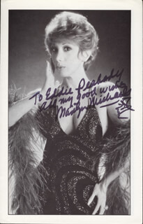 MARILYN MICHAELS - AUTOGRAPHED INSCRIBED PHOTOGRAPH