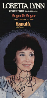 LORETTA LYNN - INSCRIBED PICTURE POSTCARD SIGNED