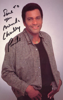 CHARLEY PRIDE - INSCRIBED PICTURE POSTCARD SIGNED