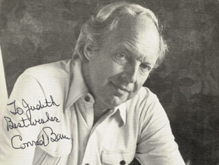 CONRAD BAIN - AUTOGRAPHED INSCRIBED PHOTOGRAPH