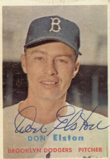 DON ELSTON - TRADING/SPORTS CARD SIGNED