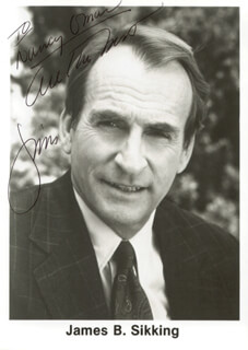 JAMES B. SIKKING - AUTOGRAPHED INSCRIBED PHOTOGRAPH