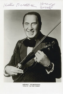 HENNY YOUNGMAN - AUTOGRAPHED SIGNED PHOTOGRAPH