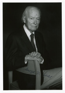 Autographs: GEORGE D. SNELL - PHOTOGRAPH SIGNED