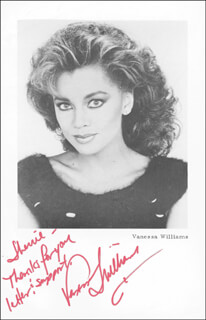 VANESSA L. WILLIAMS - AUTOGRAPHED SIGNED PHOTOGRAPH