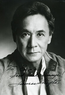 JAMES SHIGETA - AUTOGRAPHED INSCRIBED PHOTOGRAPH