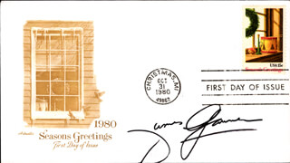 JAMES GARNER - FIRST DAY COVER SIGNED