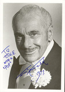 FRITZ FELD - AUTOGRAPHED INSCRIBED PHOTOGRAPH 1977