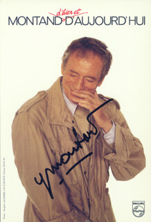 YVES MONTAND - AUTOGRAPHED SIGNED PHOTOGRAPH