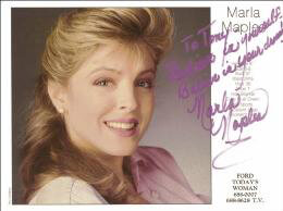 MARLA MAPLES - AUTOGRAPHED SIGNED PHOTOGRAPH
