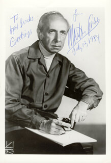 MORTON GOULD - AUTOGRAPHED INSCRIBED PHOTOGRAPH 07/02/1984