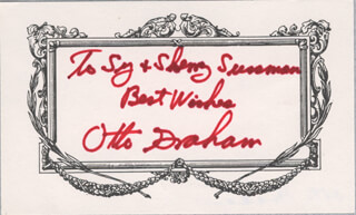 OTTO GRAHAM - AUTOGRAPH NOTE SIGNED