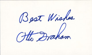 OTTO GRAHAM - AUTOGRAPH SENTIMENT SIGNED