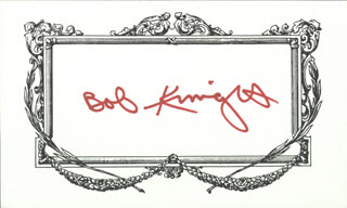 BOBBY KNIGHT - PRINTED CARD SIGNED IN INK