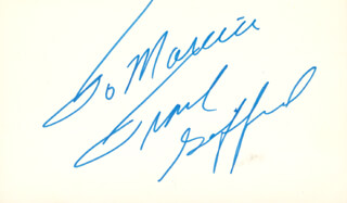 FRANK GIFFORD - INSCRIBED SIGNATURE