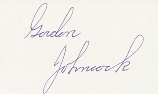 GORDON JOHNCOCK - AUTOGRAPH