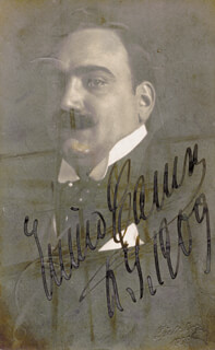 ENRICO CARUSO - PICTURE POST CARD SIGNED 1909