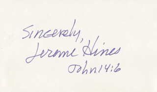 JEROME HINES - AUTOGRAPH SENTIMENT SIGNED
