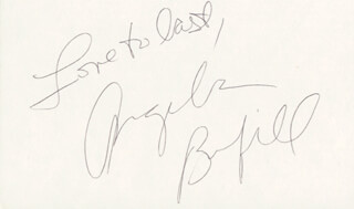 ANGELA BOFILL - AUTOGRAPH SENTIMENT SIGNED