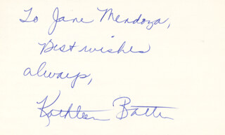 Autographs: KATHLEEN BATTLE - AUTOGRAPH NOTE SIGNED