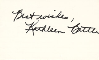 KATHLEEN BATTLE - AUTOGRAPH SENTIMENT SIGNED