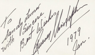 RUSSELL CHRISTOPHER - AUTOGRAPH NOTE SIGNED 1/1979