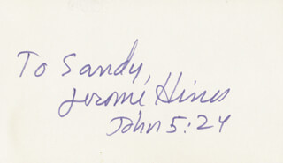 JEROME HINES - INSCRIBED SIGNATURE