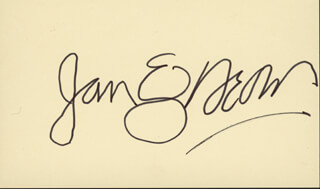 JAN & DEAN - AUTOGRAPH CO-SIGNED BY: JAN & DEAN (JAN BERRY), JAN & DEAN (DEAN TORRENCE)