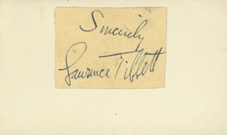 LAWRENCE TIBBETT - AUTOGRAPH SENTIMENT SIGNED