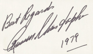 RUSSELL CHRISTOPHER - AUTOGRAPH SENTIMENT SIGNED 1979