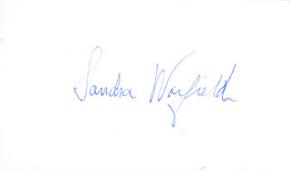 SANDRA WARFIELD - AUTOGRAPH