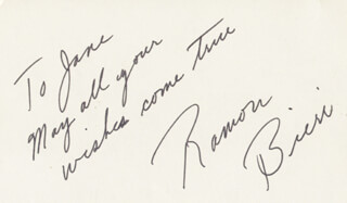 RAMON BIERI - AUTOGRAPH NOTE SIGNED