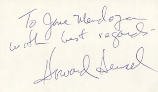 HOWARD HENSEL - AUTOGRAPH NOTE SIGNED